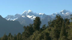 lake matheson, New-Zealand - stock footage