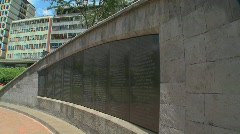 The Nairobi bombing Memorial commemorates the tragedy of August 17, 1998. - stock footage