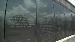 Names on the memorial honoring the victims of the 1998 US Embassy bombing in Stock Footage