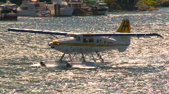 Aircraft, float plane taxi in harbour, #3 Stock Footage