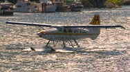 Aircraft, float plane taxi in harbour, CYWH, #3 Stock Footage