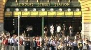Melbourne, flinders street station Stock Footage