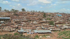 An overview of a slum in Kenya. Stock Footage
