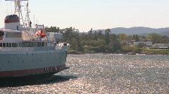 Marine transportation, black ball ferry Coho Stock Footage