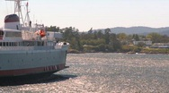 Stock Video Footage of black ball ferry Coho
