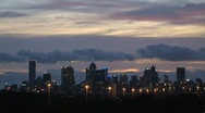 Melbourne evening Stock Footage