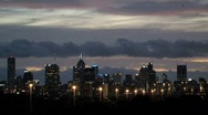 Melbourne at evening Stock Footage