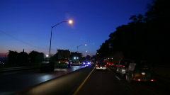Evening Construction Traffic 1694 Stock Footage