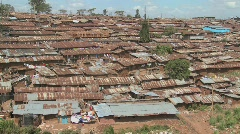 View over a slum area in Nairobi, Kenya. Stock Footage
