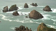 Stock Video Footage of Catlins, New-Zealand, nugget point