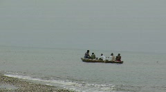 Haitians in a Row Boat (HD) co Stock Footage