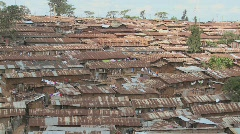 View over a slum region in Nairobi, Kenya. Stock Footage