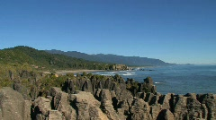Pancake rocks, New-Zealand Stock Footage