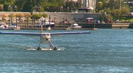 Aircraft, float plane taxi in harbor, CYWH, #1 Stock Footage
