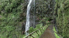 waterfall madeira - stock footage