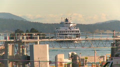 maritime transportation. ferry arriving - stock footage