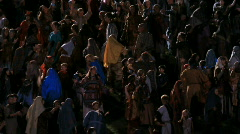 Christian reenactment night P HD 1017 - stock footage