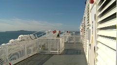 maritime transportation. ride aboard ferry - stock footage