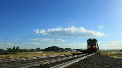 Freight Train in Rural Colorado - stock footage