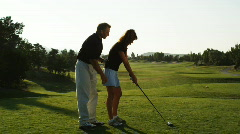 Golf lesson Stock Footage