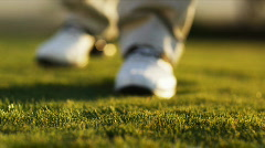 Golfer teeing off Stock Footage