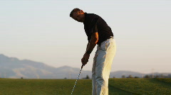 Golfer missing a putt Stock Footage