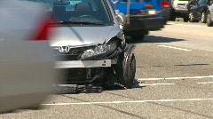 auto accident, bumper clipped - stock footage