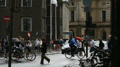 European city scene Stock Footage