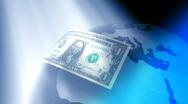 Dollars around the world, LOOP Stock Footage