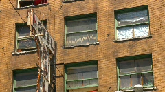 Rundown hotel eastend Vancouver, #2 Stock Footage
