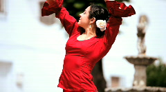 Spanish Flamenco Dancer Stock Footage