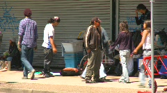Homeless people, eastend Vancouver, #6 Stock Footage
