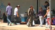 Stock Video Footage of homeless people, eastend Vancouver, #6