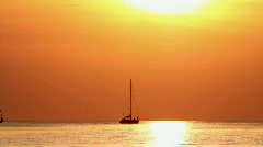 Sea sunset 9 Stock Footage