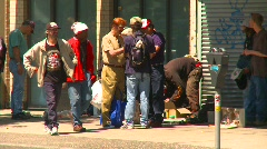 Homeless people, eastend Vancouver, #7 Stock Footage