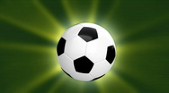 Loopable CGI soccer ball - alpha channel Stock Footage