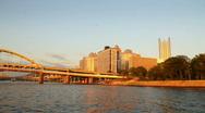 Pittsburgh Skyline 1704 Stock Footage