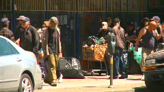 homeless people, eastend Vancouver, #2 - stock footage