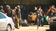 Stock Video Footage of homeless people, eastend Vancouver, #2