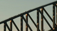 Stock Video Footage of Sydney harbor bridge walking