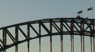 Stock Video Footage of Sydney harbor bridge walk