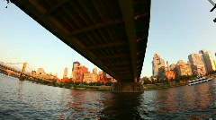 Pittsburgh Skyline from the Allegheny River 1715 Stock Footage