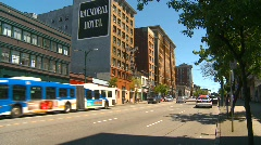 Street in eastend Vancouver Stock Footage