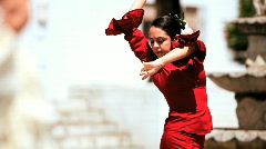 Traditional Flamenco Dancers - stock footage