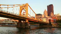 Pittsburgh Skyline 1716 Stock Footage