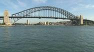 Stock Video Footage of Sydney harbor bridge