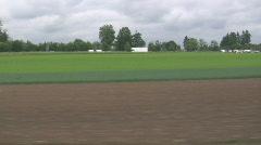 swiss landscape train 1 - stock footage