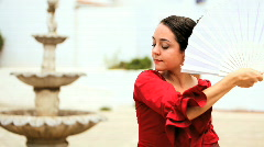 Passionate Flamenco Dancer Stock Footage