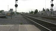Stock Video Footage of Railroad Track Maintenance Vehicle