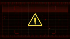 Stock Video Footage of Warning Sign HUD (FLAT) HD